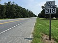 2017-08-21 11 39 40 View east along Maryland State Route 318 (Federalsburg Bypass) at Maryland State Route 313 (Reliance Avenue) in Federalsburg, Caroline County, Maryland.jpg