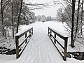 2018-03-21 11 39 07 View along a snow-covered walking path as it crosses a bridge in the Franklin Farm section of Oak Hill, Fairfax County, Virginia.jpg