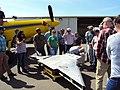 2018. Shawna Bautista (R6 FHP) inspecting fertilizer spreader. Aerial Pesticide Application Training (APAT). Davis, California. (40800381325).jpg