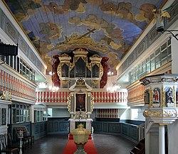 20180711330MDR Helbigsdorf (Mulda) Dorfkirche Altar Orgel.jpg