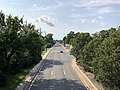 2020-08-26 16 15 16 View north along the southbound lanes of Maryland State Route 202 (Landover Road) from the overpass for Maryland State Route 295 (Baltimore-Washington Parkway) in Landover, Prince George's County, Maryland.jpg