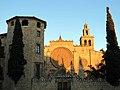 255 Monestir de Sant Cugat del Vallès, façana oest, pl. Octavià.JPG