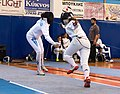 2nd Leonidas Pirgos Fencing Tournament. Flèche on the parry, double touch.jpg