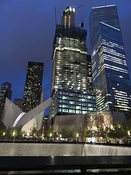 3-4 World Trade Center at night 2016.JPG
