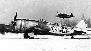 132nd Wing - Republic P-47D-28-RA Thunderbolt, AAF Ser. No. 42-28932 of the 388th Fighter Squadron.
