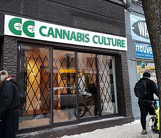 Marc Emery - One of the six Cannabis Culture shops opened by Marc Emery in Montreal in December 2016, leading to his arrest.