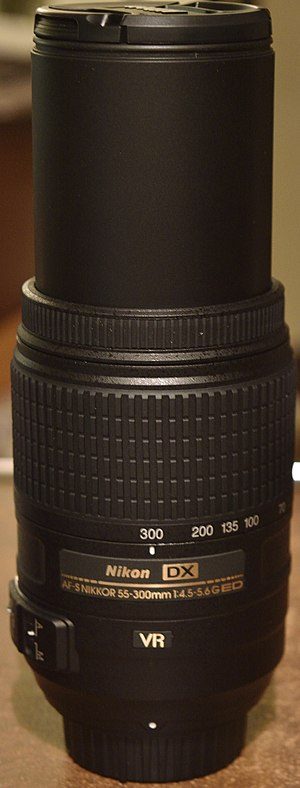 Nikon AF-S DX Nikkor 55-300mm f/4.5-5.6G ED VR - Lens at full zoom.