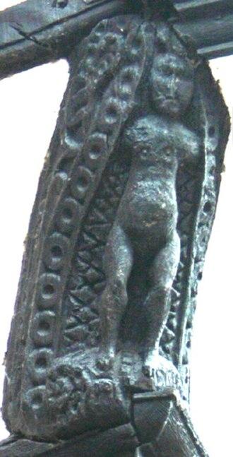 46 High Street, Nantwich - Carved caryatid