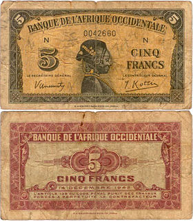 French West African franc