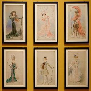 Alfredo Edel Colorno - Image: 6 maquettes de costume Alfredo Edel