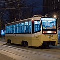 71-619 tram on 39 route at Sadovnicheskaya st. of Moscow at Feb 2014.jpg