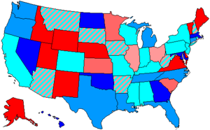 97th United States Congress - Image: 97 us house membership
