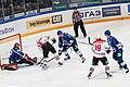 A.Kuznetsov, Nedorost, Ozhiganov, Kiiskinen, Jaakola 2013-01-30 Amur Khabarovsk—Donbass KHL-game.jpeg