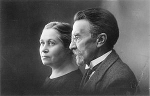 August Kitzberg - August Kitzberg with his wife.