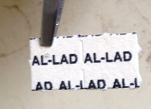 AL-LAD - AL-LAD on blotter paper