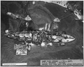 ASBF (VJ1) ^23029- 6 Nov 1943. USS Oklahoma - Salvage, Aerial view from port side after refloating - NARA - 296920.tif