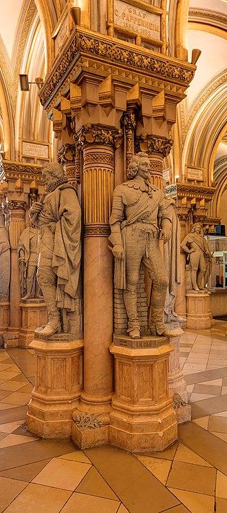 Gottfried Heinrich Graf zu Pappenheim - Statue in the hall of generals in the Museum of Military History, Vienna