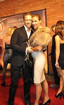 Siffredi e la moglie Rosa Caracciolo agli AVN Awards nel gennaio 2011