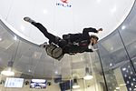 A Sailor practices proper freefall technique during military freefall training. (31854241243).jpg
