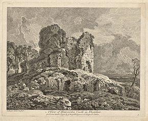 A view of Hawarden Castle in Flintshire