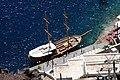 A boat anchored at port, Santorini (2601224358).jpg