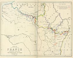 A map of the Eastern boundary of France to illustrate Article III in The First Peace of Paris 30th May 1814.jpg