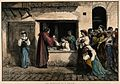 A physician dispensing medicine through a window, a large gr Wellcome V0016099.jpg