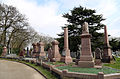 A road with tombs at City of London Cemetery and Crematorium 01.jpg