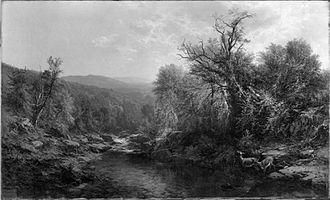 James McDougal Hart - Image: A stream in the adirondacks hart