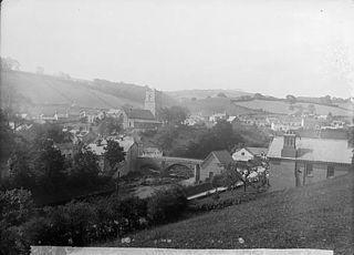 A view of Llanfair Caereinion from Mr Jones' field