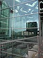 A view on the new glass wall of Central Station The Hague with fences; high resolution image by FotoDutch, June 2013.jpg