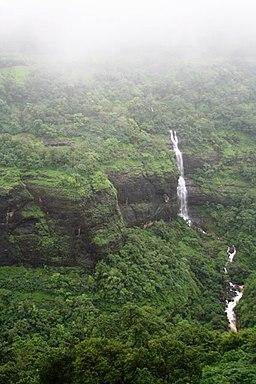 A waterfall on the way to Lonavala, Maharashtra