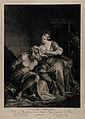 A weeping Pero, breast-feeding Cimon, her starving imprisone Wellcome V0015272.jpg
