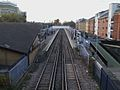 Abbey Wood stn look west from public footbridge.JPG