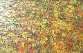 Ablade Glover, Painting in Yellow, Oil on canvas, 46 x 76 cm.jpg