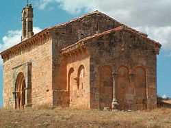 Hermitage of Santo Cristo de San Sebastián (11th or 12th century). Its square apse is of Visigothic origin.