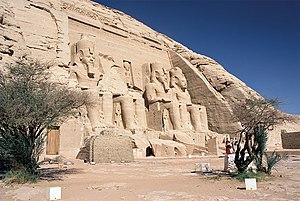 Speos de Ramsés II en Abu Simbel.