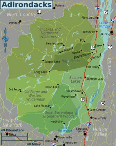 Adirondacks Travel guide at Wikivoyage