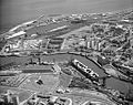 Aerial view of the North Sands shipyard, 1973 (24643920203).jpg