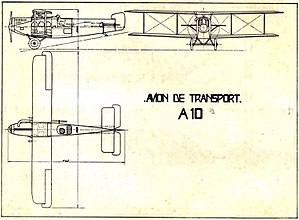 Aero A.10 - 3-view drawing