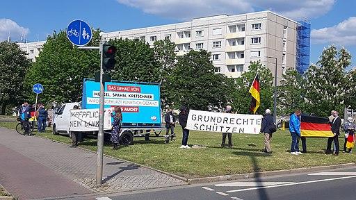 AfD Rathenauplatz Mai 2020