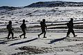 Afghan National Army soldiers with the 3rd Kandak, 205th Corps walk to a defensive position during a clearing operation in Jafare Sufla, Shah Joy district, Zabul province, Afghanistan, Jan. 15, 2014 140115-A-XP635-003.jpg