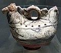 Afghanistan, strumento musicale zoomorfo, ceramica, VII sec.JPG
