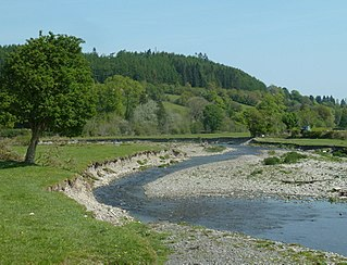 Afon Dulas, Llanidloes river in the United Kingdom