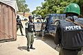African Union police officers undergo a demonstration to show the correct way in which to stop and search a vehicle at General Kahiye Police Academy in Mogadishu, Somalia, on June 16. The African (14439371311).jpg