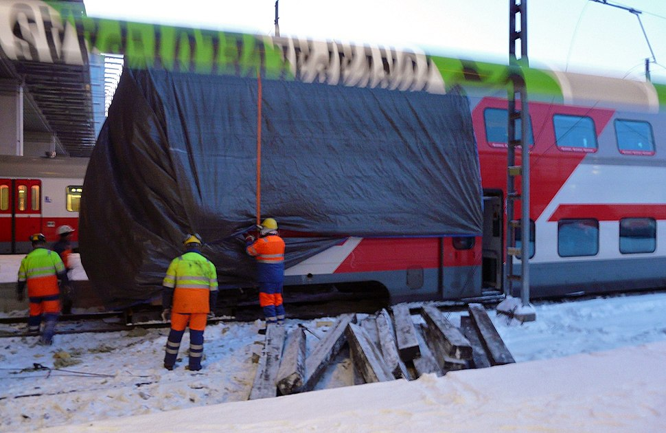 After a train accident at Helsinki Central railway station, 2010 16
