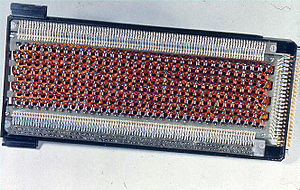 Core rope memory - Rope memory from the Apollo Guidance Computer