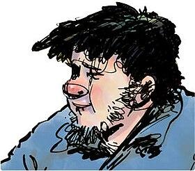 رسم كاريكاتير لأحمد نادي يجسده
