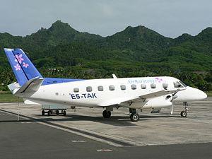 Air Rarotonga - Air Rarotonga Embraer 110 at Rarotonga International Airport (2012)