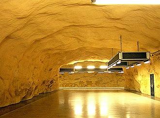 Akalla metro station - Image: Akalla Bergtunneln